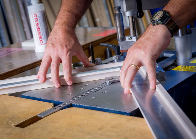 cutting for new custom framing project | Aldecor Custom Framing & Gallery - Naples, Florida