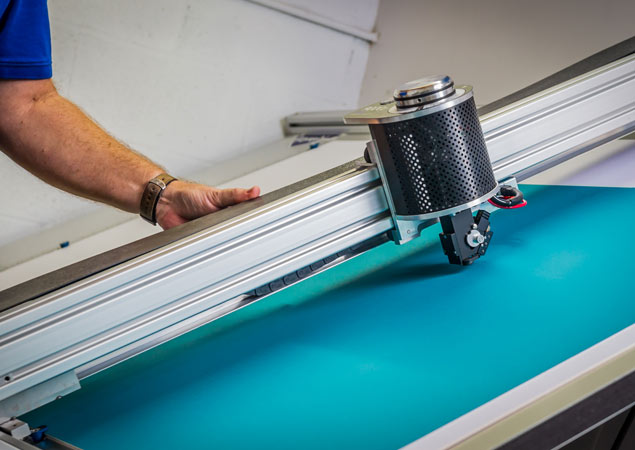 matting machine creating custom mat for framed artwork | Aldecor Custom Framing & Gallery - Naples, Florida