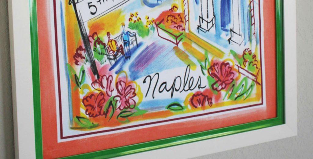 Naples Tea Towel Custom Framing | Aldecor Custom Framing & Gallery - Naples, Florida